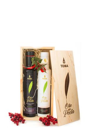 Set natalizio da 2 Bottiglie di Olio Extravergine di Oliva da 250 ML